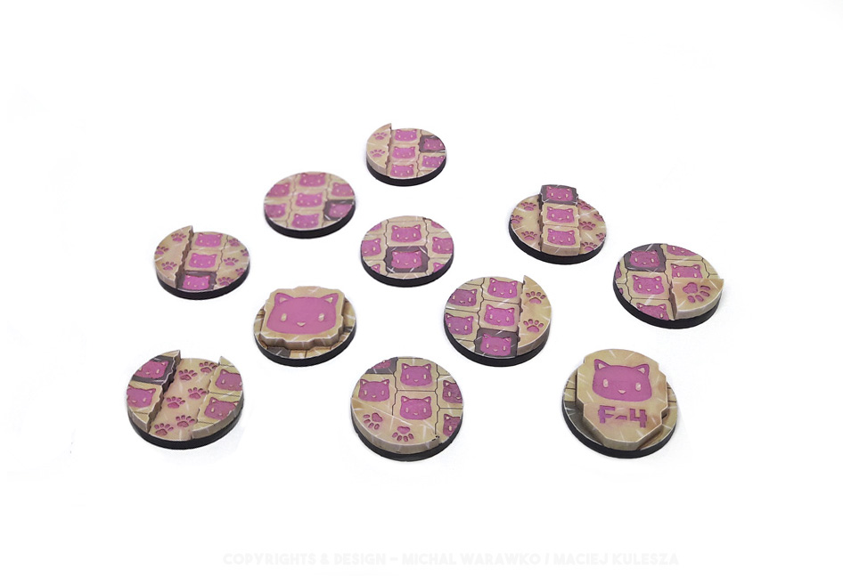 B 002 – 11 Kitty Bases – 25 mm