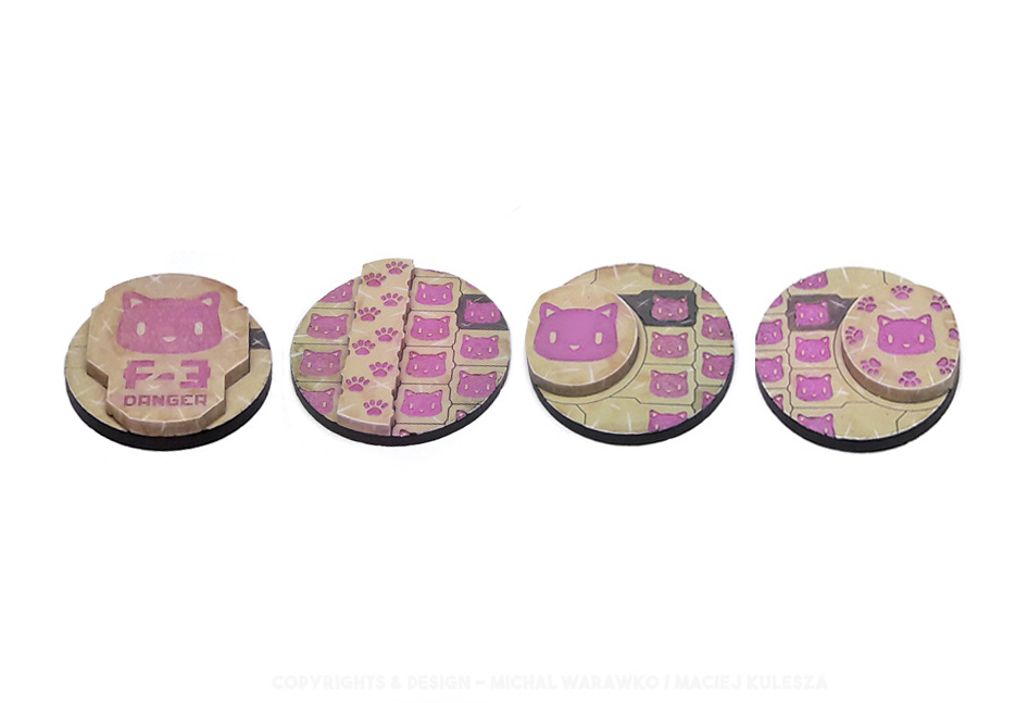 B 003 – 4 Kitty Bases – 40 mm